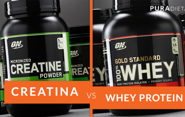 creatine vs whey proteina